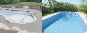 Before and After picture of Pool Service